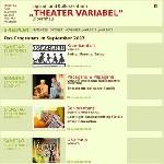 """Jugend- und Kulturzentrum """"Theater Variabel"""" Olbernhau – Spielplan"""